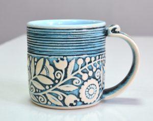 Купити Горнятко керамічне кольорове синє- концептуальні сувеніри, подарунки та смаколики від Just Lviv It! Незвичайні та яскраві сувеніри зі Львова