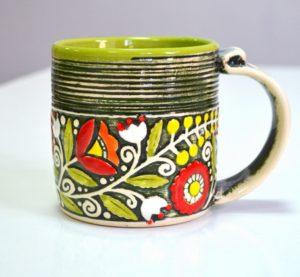 Купити Горнятко керамічне кольорове зелене- концептуальні сувеніри, подарунки та смаколики від Just Lviv It! Незвичайні та яскраві сувеніри зі Львова